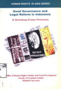Good governance and legal reform in Indonesia
