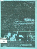 Indonesia: Notes on reconstruction, the December 26, 2004 natural disaster